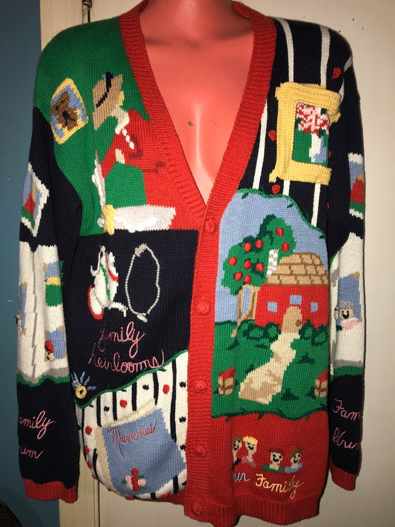 Vintage Ugly Sweater. Family Ugly Sweater. Family