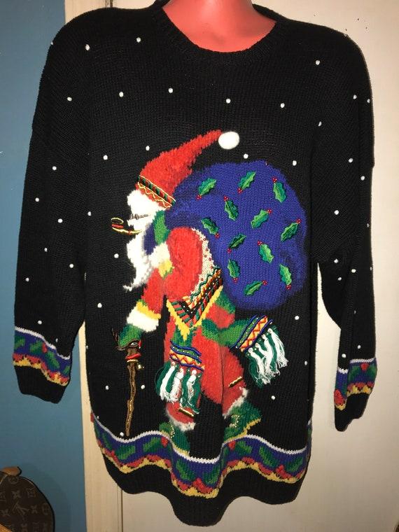 Vintage Ugly Christmas Sweater. Ugly Christmas Swe