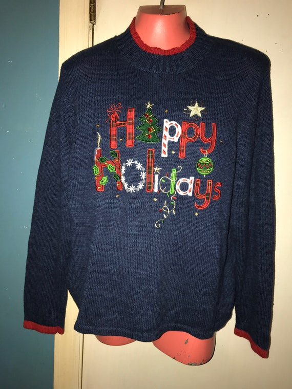 Ugly Christmas Sweater. Vintage Ugly Christmas Swe