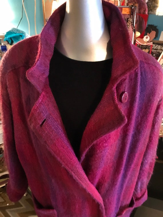 Vintage Mohair Coat. Embrys Paul Levy Pink Mohair