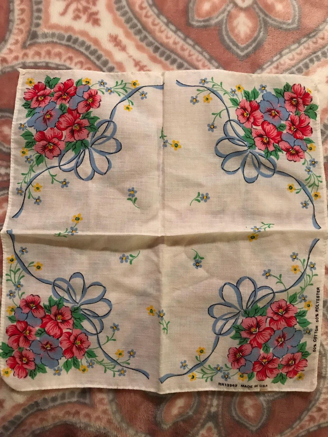 Vintage flower Handkerchief