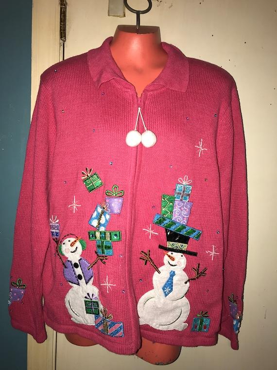 Ugly Light Up Christmas Sweater. Vintage Ugly Chri