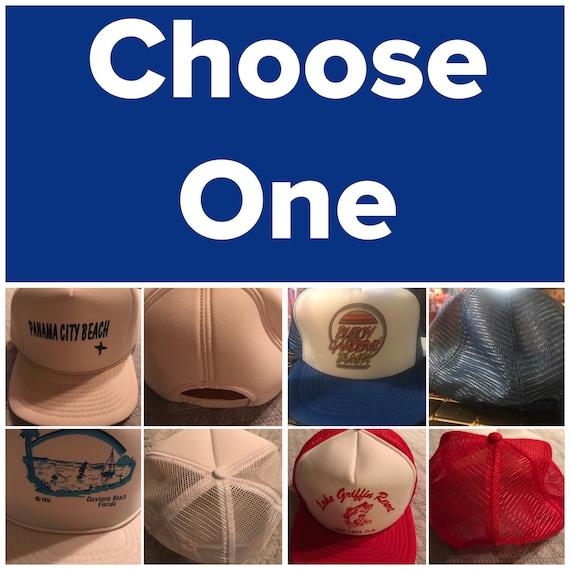 Vintage Trucker Hats. Florida Trucker Hats. 80's T