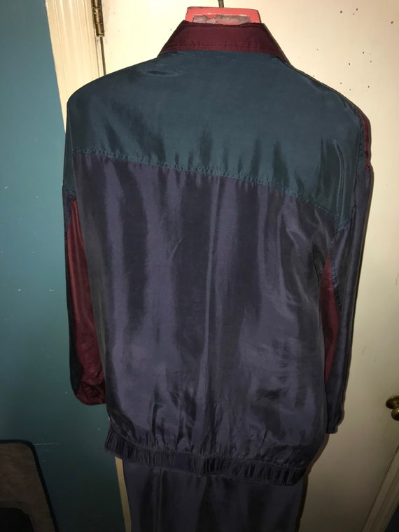 Vintage NWT Mens Silk Track Suit. Men's Silk Jack… - image 7