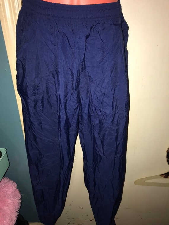 Vintage Nike Windbreaker Pants. 90's Blue Nike Win