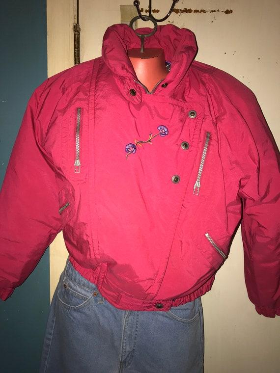 Vintage Ski Jacket. 1980's Skitique Ski Jacket. Wo