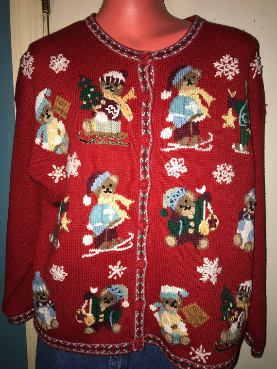 Ugly Christmas Sweater. Vintage Deadstock Ugly Chr