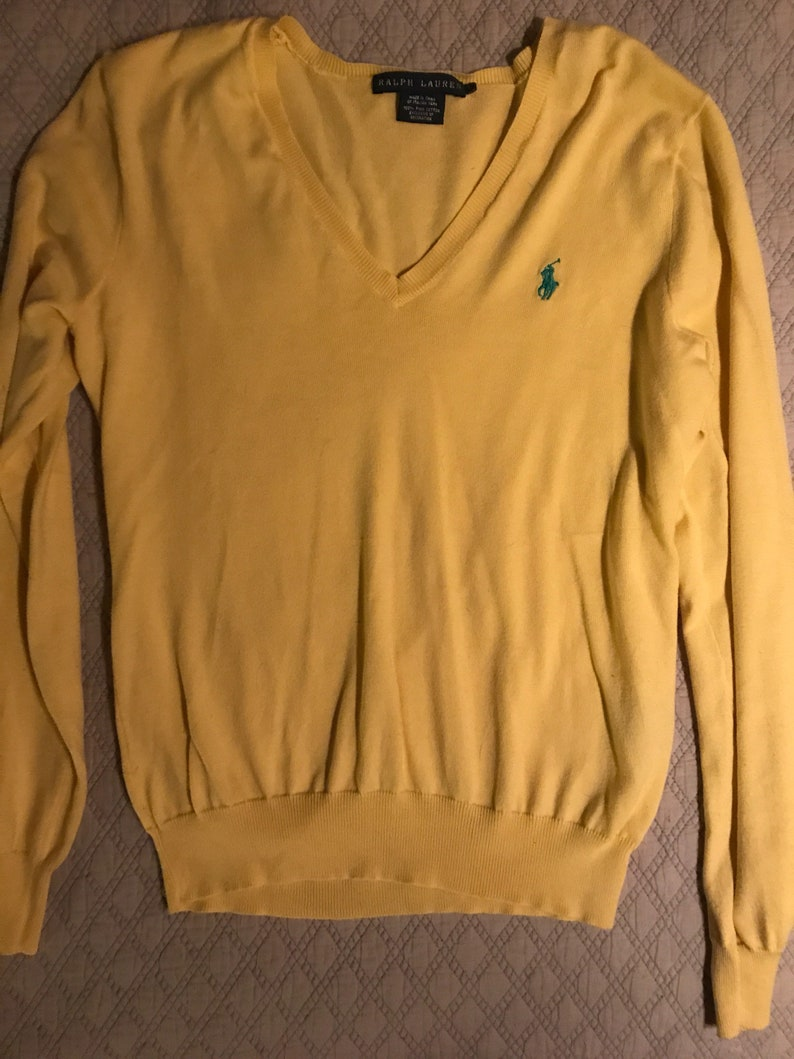 30e3294692780 Ralph Lauren Yellow Sweater. Ralph Lauren. Ralph Lauren Thin | Etsy