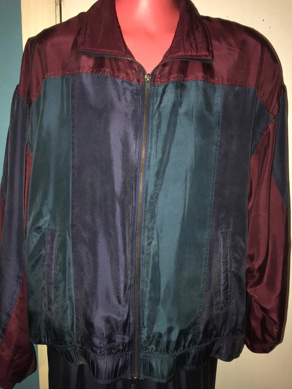 Vintage NWT Mens Silk Track Suit. Men's Silk Jack… - image 2
