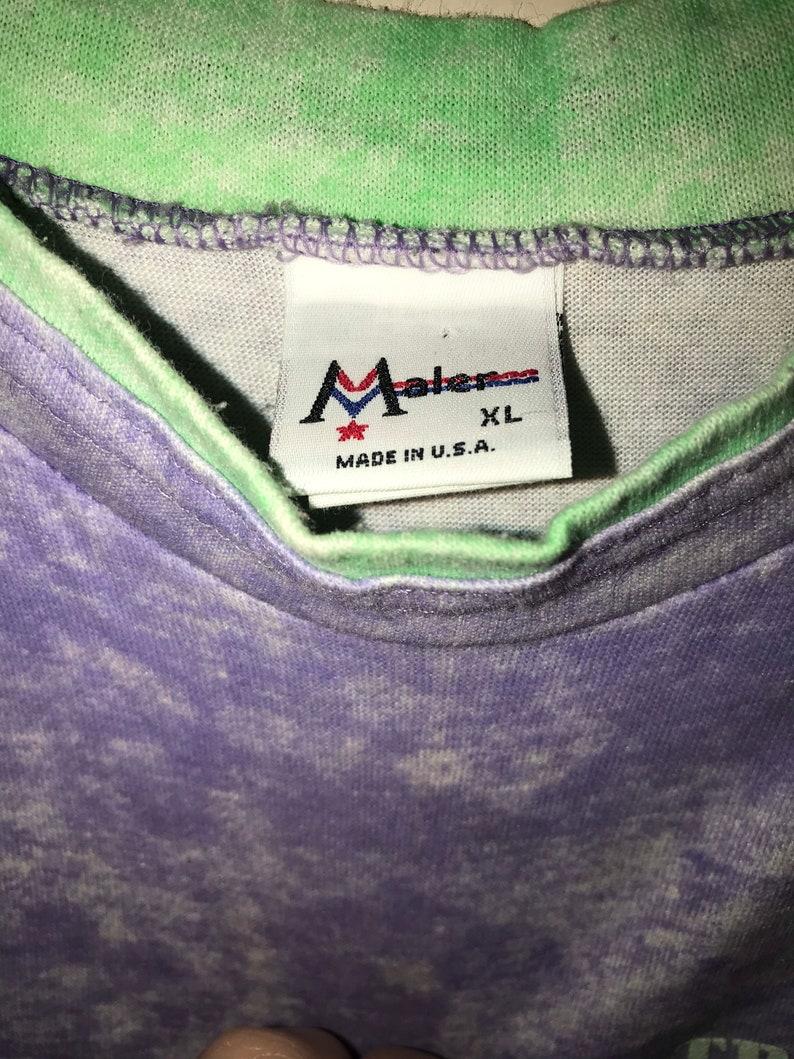 Size Extra Large Kids Purple and Green Tropical Life T-shirt Unisex Children\u2019s T-shirt Vintage Kids 80\u2019s Cool T-shirt