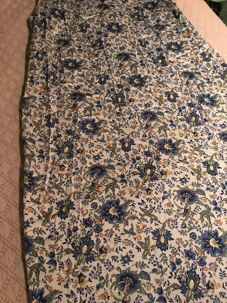 Talbots Daisy Dress Sleeveless Summer Dress Flower Pattern Dress Vintage Talbots Dress Talbots Size 16 Blue Flower Talbots Summer Dress