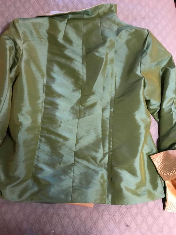 Vintage Green Asian Satin Jacket. Satin Jacket. A… - image 5