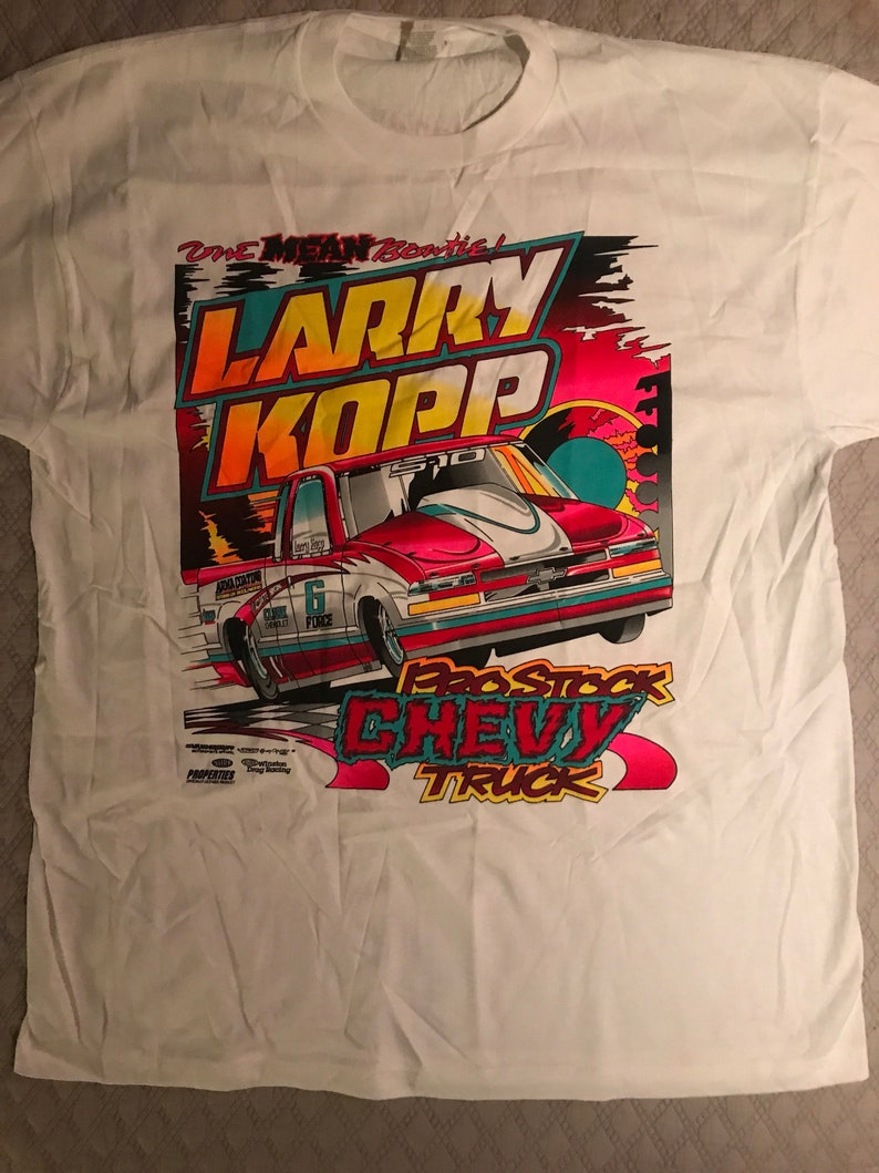 33510cbd9 Vintage Deadstock Hot Rod Racing T-shirt. 90's Larry Kopp | Etsy