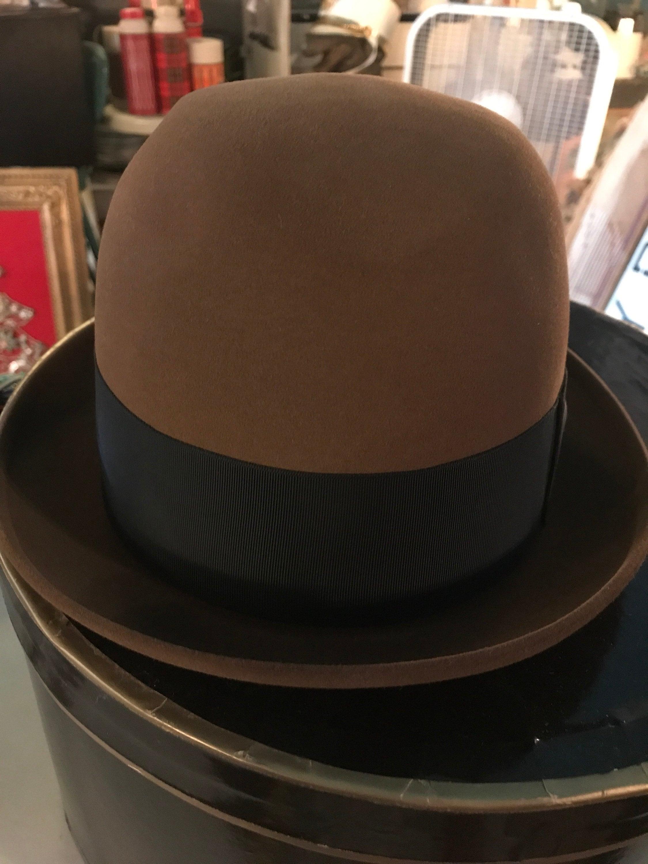 892da4ff7 Vintage Resistol Beaver XXX Felt Brown Fedora Hat. Fedora. Vintage ...