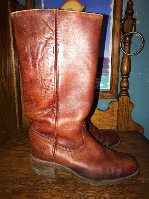 Vintage Leather Frye Boots. 1980's Frye Boots. Fry