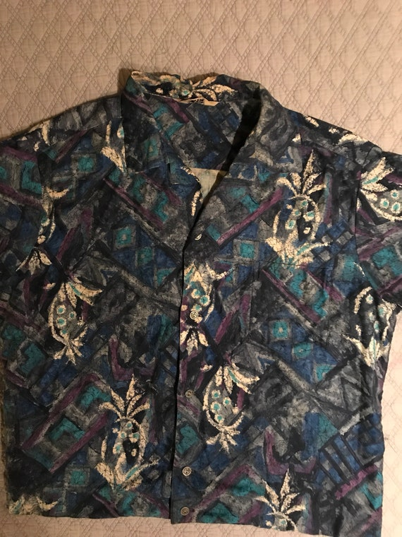 Vintage Reef Hawaiian Shirt. Men's 1950's Hawaiian