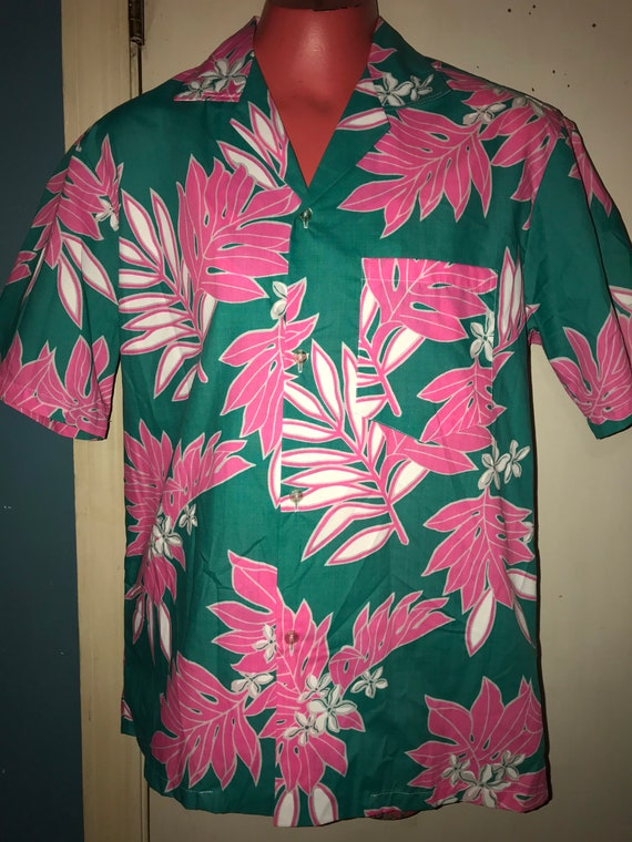 Vintage Hawaiian Shirt. Men's Hawaiian Shirt. Brig