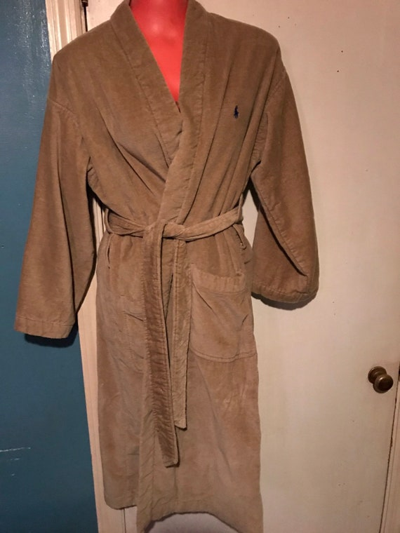 Vintage Polo Ralph Lauren Robe. Brown Terry Cloth