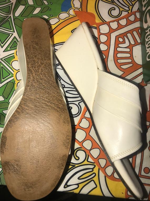 Vintage Silver Daniel Green Slippers. Metallic Si… - image 7