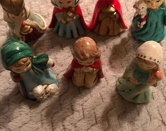 Nativity Scene. Handmade Nativity Figurines.