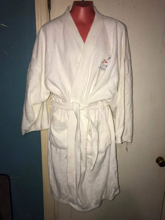 Vintage White Terry Cloth Robe. Carnival Cruise Li