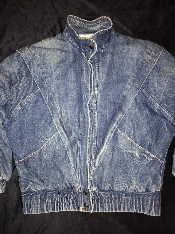 Vintage 1980's Jean Jacket. 80's Lined Jean Jacket