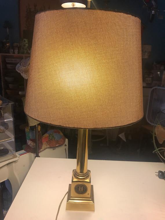Vintage Brass Lamp University Of Kentucky Brass Lamp Brass Etsy