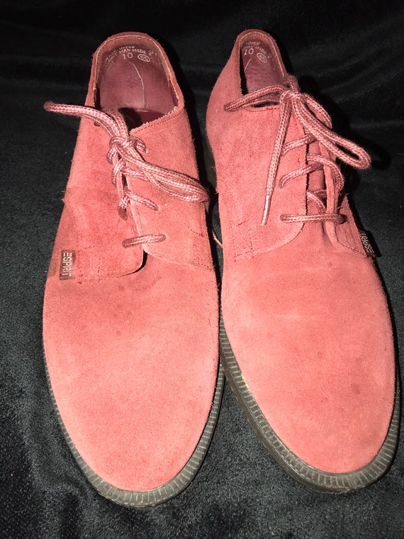 90's Esprit Loafers. Lace Burgundy Loafers. Esprit