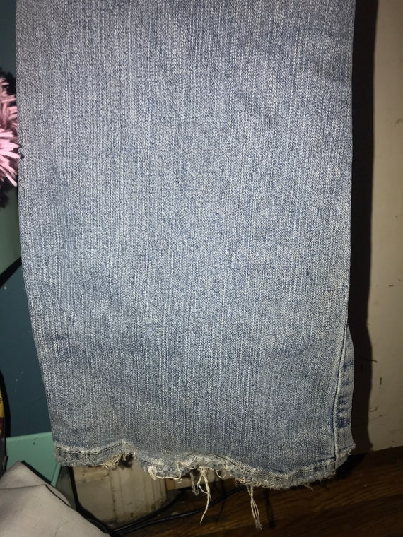 Vintage Distressed Guess Jeans. Low Rise Guess Je… - image 9