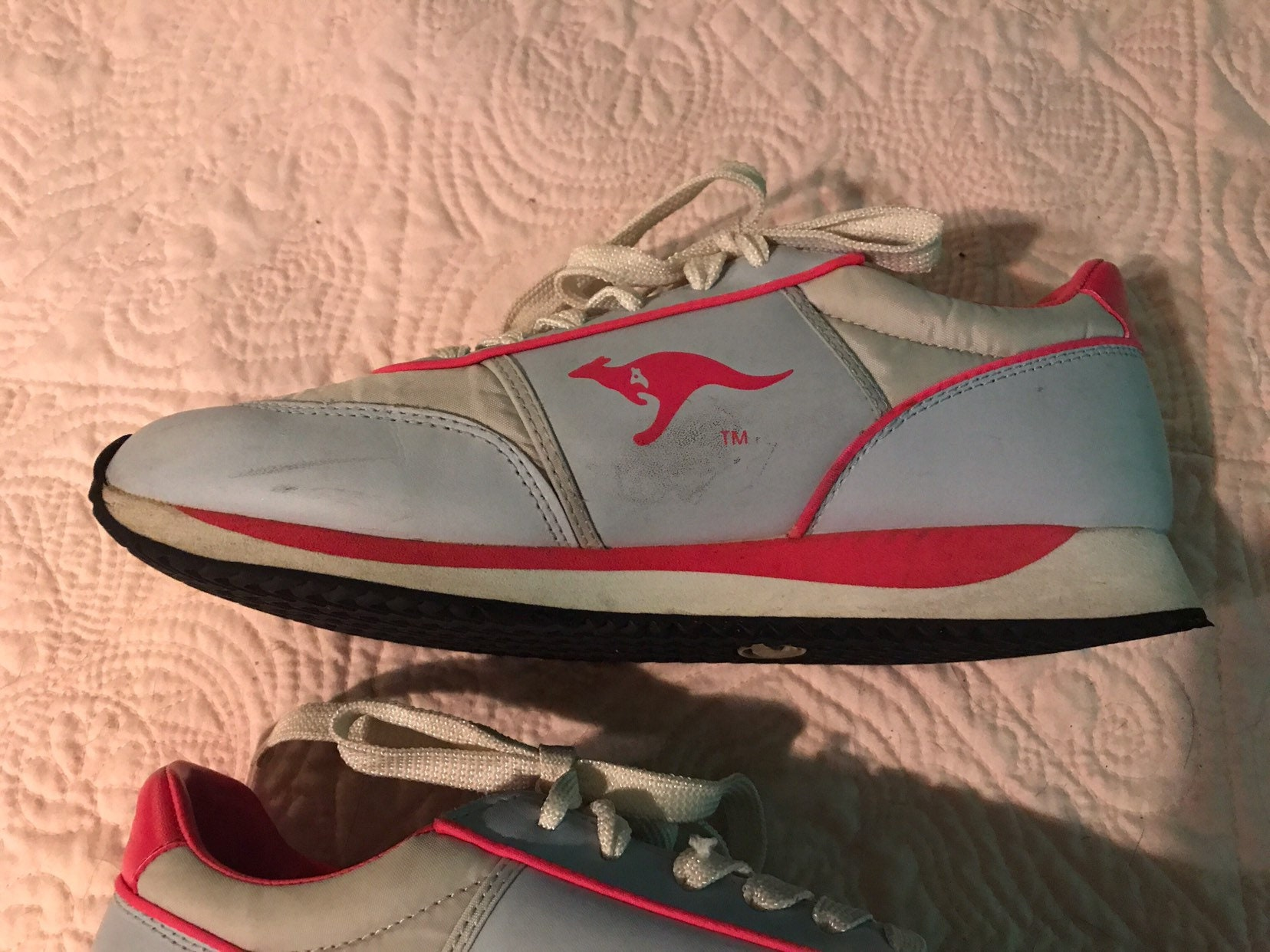 d75a9c834410 Blue and Pink Kangaroo Athletic Shoes. Tennis Shoes. Kangaroo. Size 10. 1