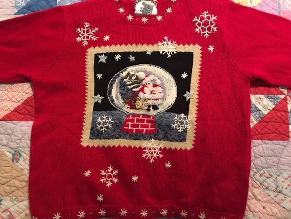 Ugly Christmas Sweater. Vintage Ugly Christmas Sweater. Ugly Christmas  Sweater Party. Christmas Sweater. Tiara International Sweater.