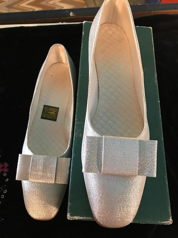 Vintage Silver Daniel Green Slippers. Metallic Si… - image 2