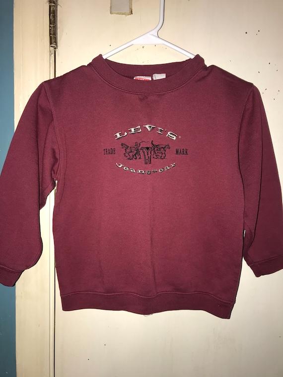 Vintage 90's Kids Levi Jeans Sweatshirt. Kids Maro