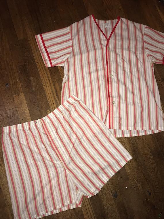 Vintage Men's Towncraft Pajamas. Men's Short Pajam