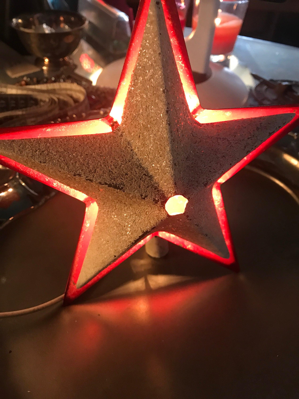 Vintage Metal Star Tree Topper Metal Christmas Tree Topper Vintage