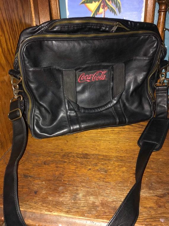 Vintage Black Leather Satchel. Vintage Leather Bag