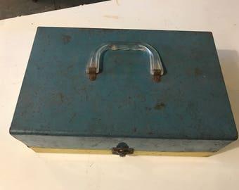 Vintage Metal Box. Metal Box. Metal Storage Box.