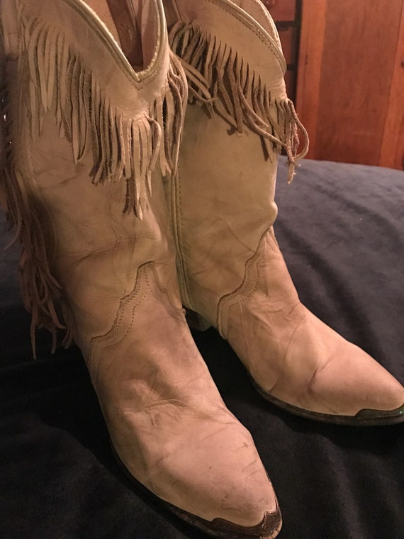 Vintage Leather Cowboy Boots. Cowgirl Boots. Cowbo