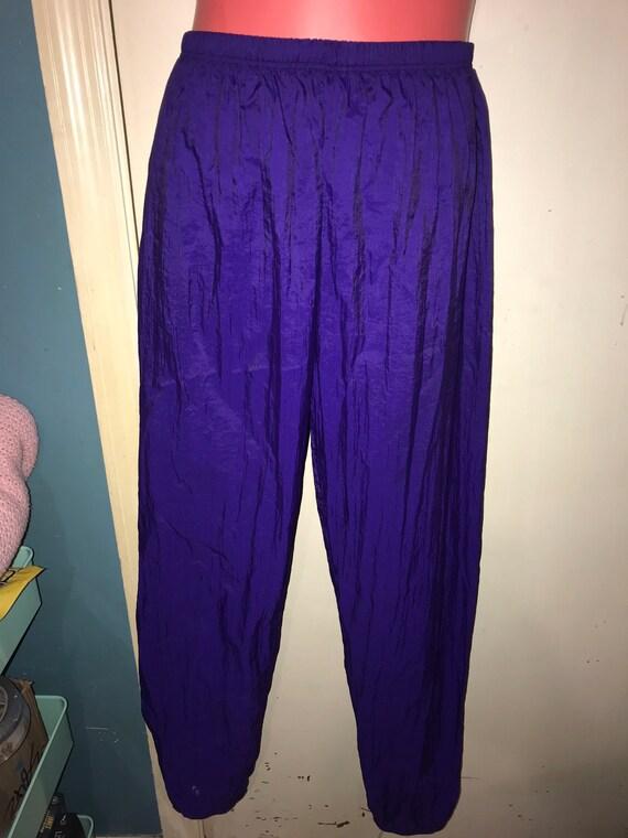 Vintage Purple Windbreaker Pants. Purple Body Wrap