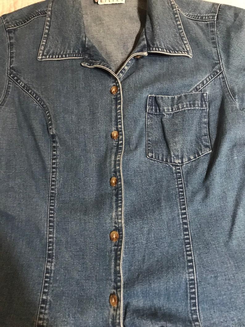 d47272be08 Vintage Talbots Blue Jean Shirt. Talbots Shirt. Denim Shirt.