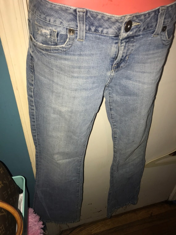Vintage Distressed Guess Jeans. Low Rise Guess Je… - image 2