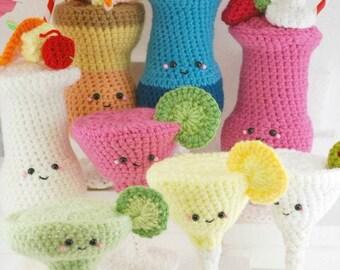 CROCHET PATTERN- 8 Amigurumi Crochet Cocktails