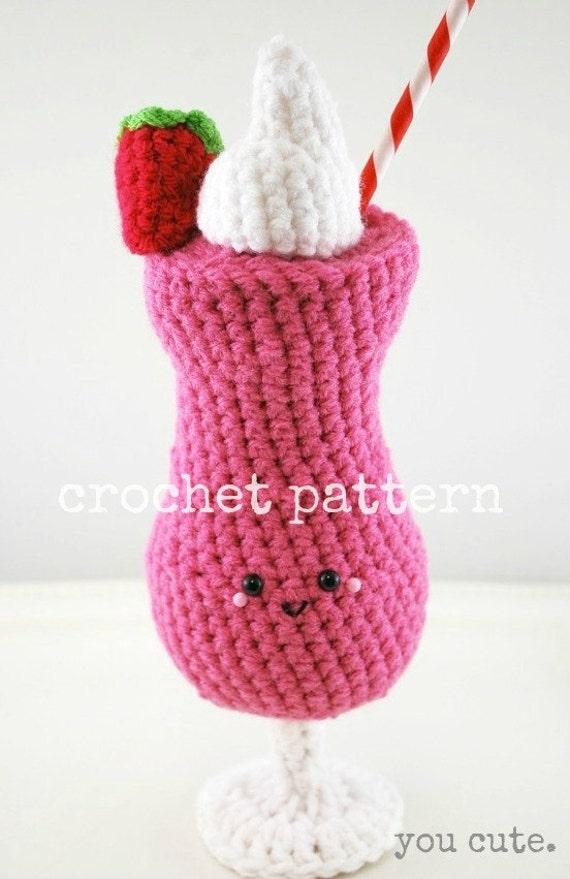 Crochet Pattern Strawberry Daiquiri Amigurumi Strawberry Etsy