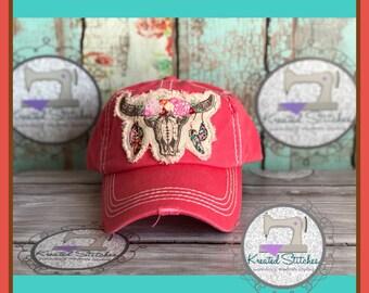 3b3b640328b9d Distressed Coral Hat