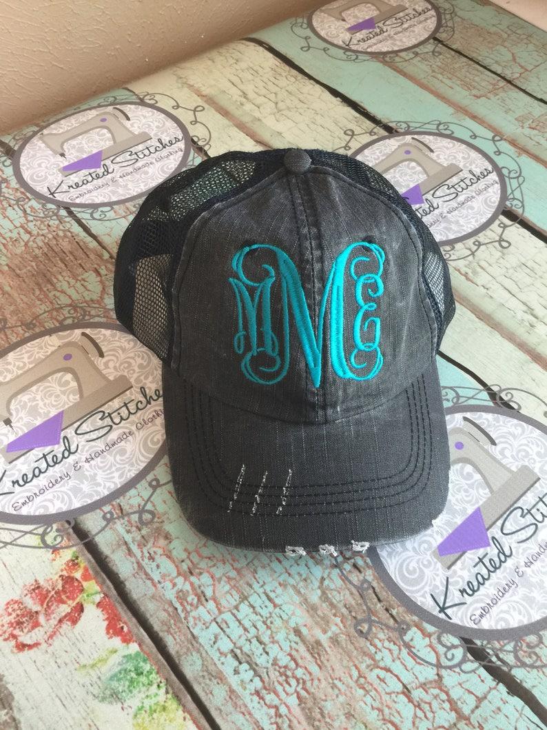 6ee679dda31bf Monogrammed Baseball Hat Ladies Monogrammed Ball Cap