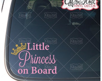 Personalised Child/baby On Board Car Sign ~ Our Little Princes On Board ~ D.blue Baby Safety & Health