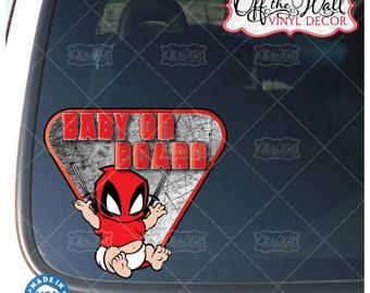 "Baby on Board baby hulk car decal sticker cute Superhero Baby multicolor 7.75/""W"