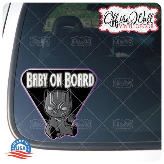 Marvel Comics Black Panther Baby on Board Vinyl Vehicle Decal Window Sticker