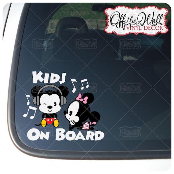 Mickey /& Pluto Cuties Kids On Board Sign Vinyl Decal Sticker for Cars Trucks