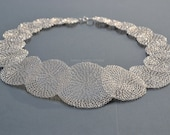 Statement necklace crocheted by hand